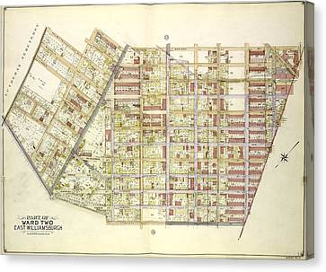 Queens, Vol. 2, Double Page Plate No. 34 Part Of Ward Two Canvas Print by Litz Collection
