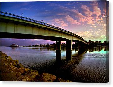 Canvas Print featuring the photograph Queens Way Bridge by Joseph Hollingsworth