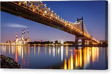 Canvas Print featuring the photograph Queensboro Bridge by Mihai Andritoiu