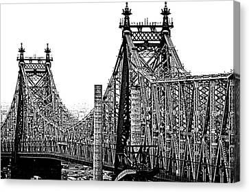 Queensborough Or 59th Street Bridge Canvas Print by Steve Archbold