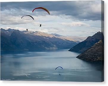 Queenstown Paragliders Canvas Print
