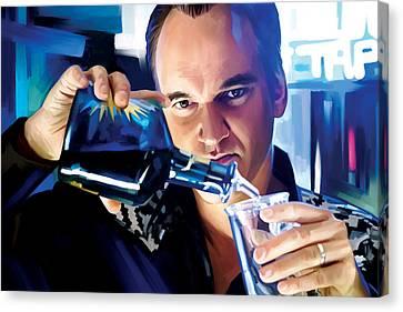 Quentin Tarantino Artwork 1 Canvas Print by Sheraz A