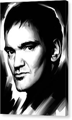 Quentin Tarantino Artwork 2 Canvas Print by Sheraz A