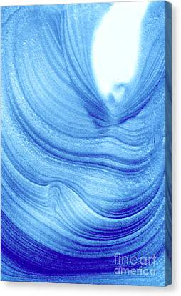 Query Blue 2 Canvas Print by Jamie Lynn