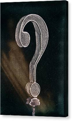Question Mark Canvas Print by Tom Mc Nemar