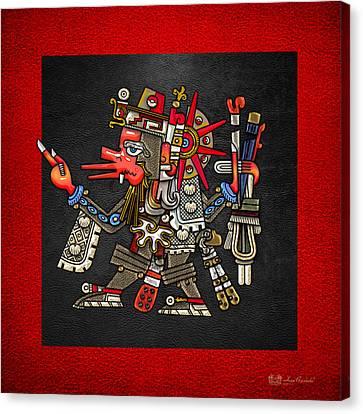 Mayan Mythology Canvas Print - Quetzalcoatl In Human Warrior Form - Codex Borgia by Serge Averbukh