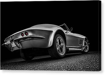 White Chevy Canvas Print - Quick Silver by Douglas Pittman