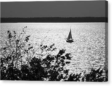 Canvas Print featuring the photograph Quick Silver - Sailboat On Lake Barkley by Jane Eleanor Nicholas