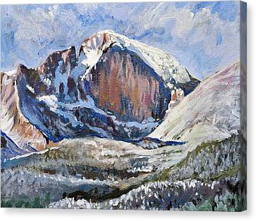 Quick Sketch - Longs Peak Canvas Print by Aaron Spong