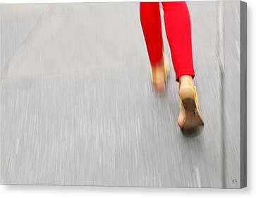 Quick Step Canvas Print by Karol Livote