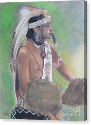 Wampanoag Dancer Canvas Print by Terri Ana Stokes