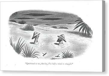 Quicksand Or Canvas Print by Richard Taylor