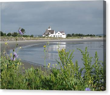 Rose Cottage Gallery Canvas Print - Quiet Beach Nahant by Barbara McDevitt