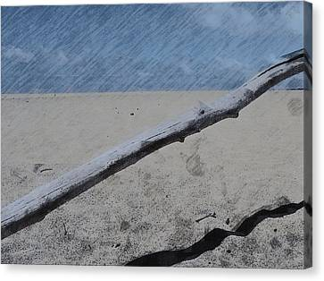 Canvas Print featuring the photograph Quiet Beach by Photographic Arts And Design Studio