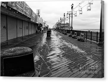 Quiet Boardwalk Mono Canvas Print