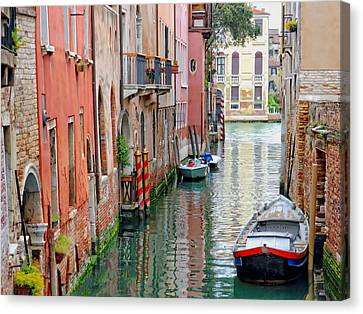 John Tidball Canvas Print - Quiet Canal by Bishopston Fine Art