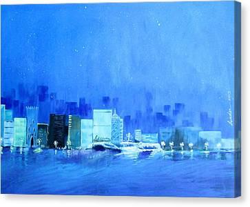 Quiet City Night Canvas Print