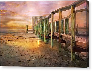 Pier Canvas Print - Quiet Colors by Betsy Knapp