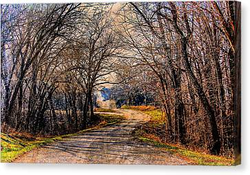 Quiet Country Road Canvas Print