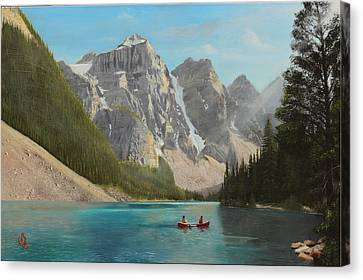Canvas Print featuring the painting Quiet Day by Glenn Beasley