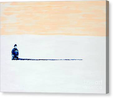 Canvas Print featuring the painting Quiet by Denise Deiloh
