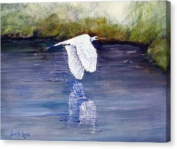 Quiet Flight Canvas Print by Loretta Luglio