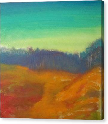 Canvas Print featuring the painting Quiet by Keith Thue