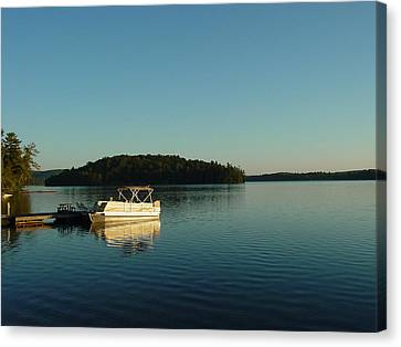 Canvas Print featuring the photograph Quiet Lake by Dorothy Maier