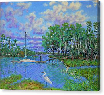 Quiet Low Country Lagoon Canvas Print