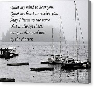 Quiet Me Canvas Print by Kirt Tisdale