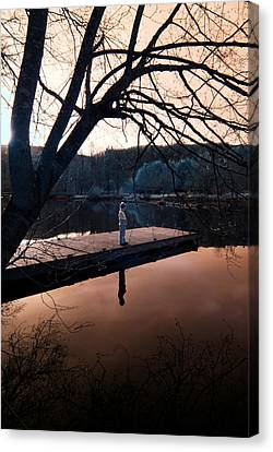 Canvas Print featuring the photograph Quiet Moment Reflecting by Rebecca Parker