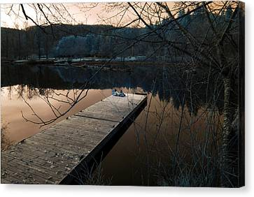 Canvas Print featuring the photograph Quiet Moments Reading by Rebecca Parker