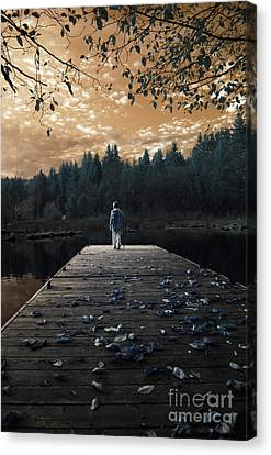 Quiet Moments Series Canvas Print by Rebecca Parker