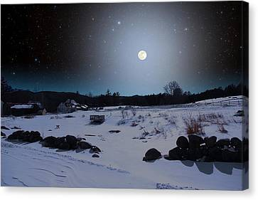 Canvas Print featuring the photograph Quiet Moonlight by Larry Landolfi