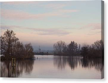 Canvas Print featuring the photograph Quiet Morning by Annie Snel