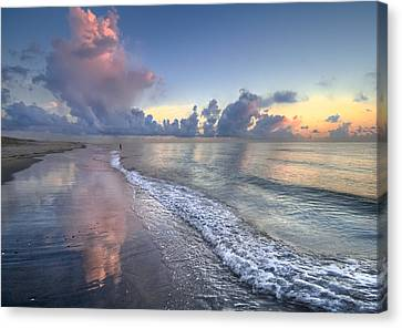 Quiet Morning Canvas Print by Debra and Dave Vanderlaan