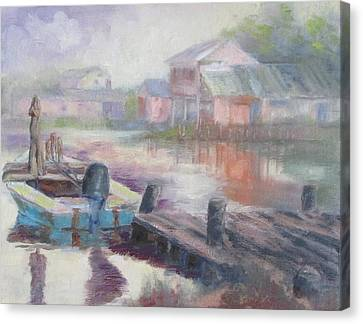 Quiet Morning In East Point Canvas Print by Susan Richardson