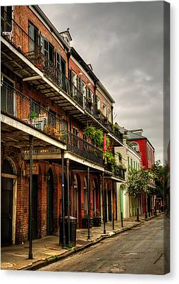 Chrystal Canvas Print - Quiet Morning In The French Quarter by Chrystal Mimbs