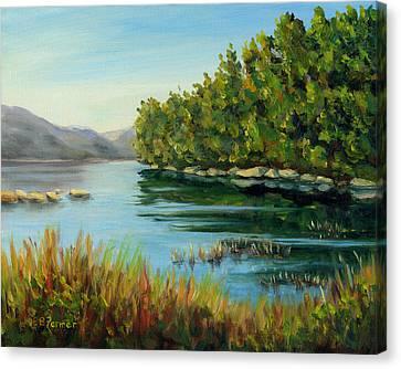 Quiet Mountain Lake, Acadia, Me Canvas Print