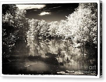 Quiet On The Pond Canvas Print by John Rizzuto