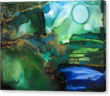 Quiet Pond Canvas Print by Kathy Sheeran