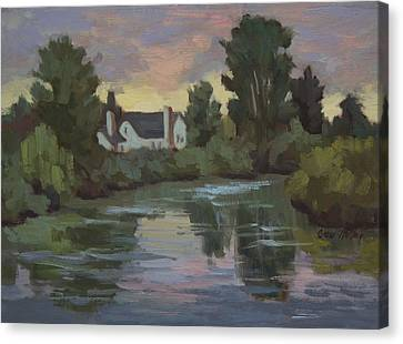 Quiet Reflections Duwamish River Canvas Print by Diane McClary