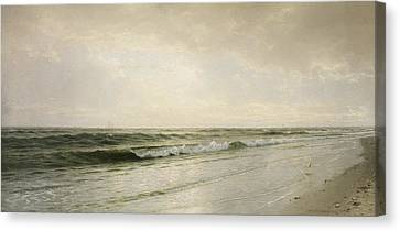 Quiet Seascape Canvas Print by William Trost Richards