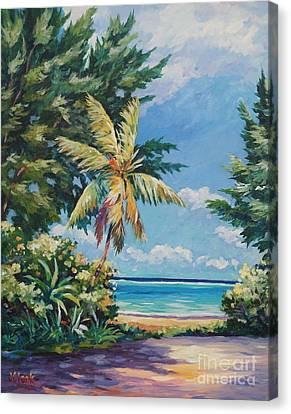 Quiet Stretch Of Beach Canvas Print by John Clark