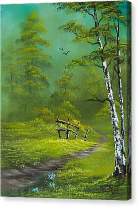 Quiet Trail Canvas Print by C Steele