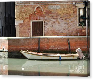 Quiet Venice Canvas Print by William Wyckoff