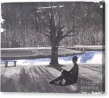 Quiet Willow Canvas Print by Leslie Jennings