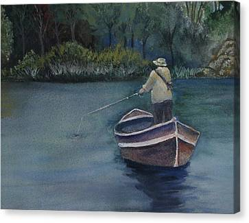 Canvas Print featuring the painting Quietude by Jan Cipolla