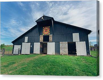 Quilted Barn Canvas Print