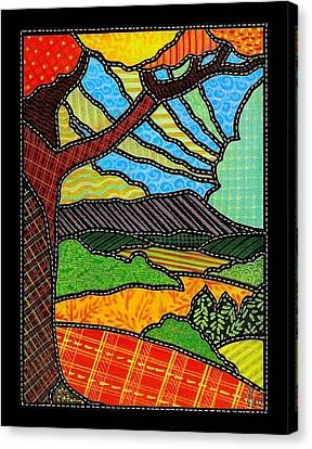 Quilted Bright Harvest Canvas Print